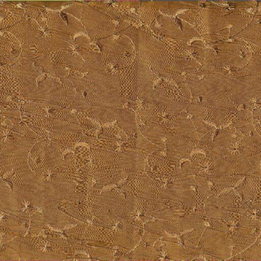 10.138.46 Creased polyester satin med broderi 12,50 meter pr. rulle