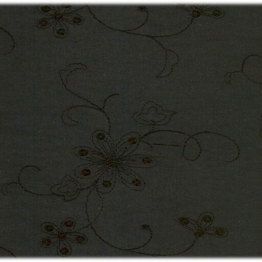 10.261.06 Polyester taft med pailletter og broderi 12,50 meter pr. rulle