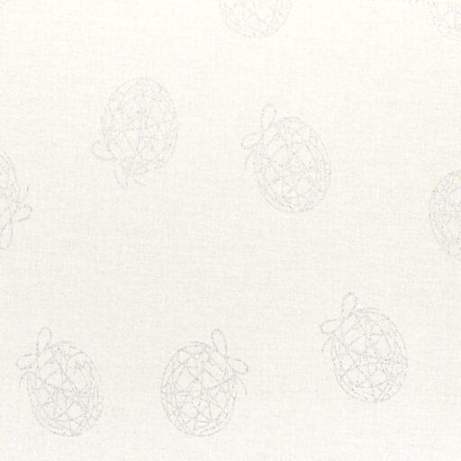 24.128.05 Fancy julekugle sølv 150 cm bred 12,5 meter pr. rulle