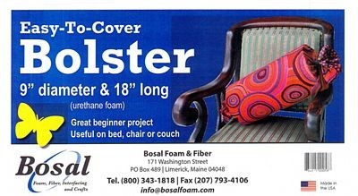 """67.33 Bosal bolster 9 diameter x 18"""" pr. stk"""""""