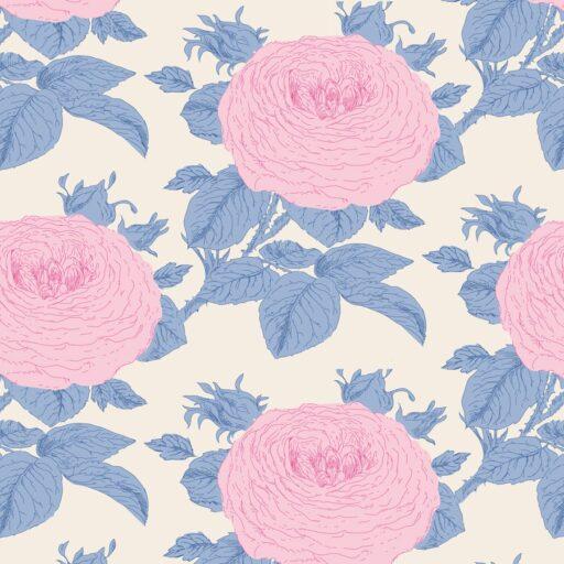 100036 Tilda.Sunkiss collection -grandmas-rose-blue