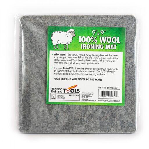 """0909.wool WOOL IRONING MAT 9x9"""""""""""