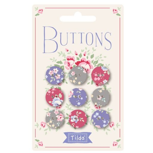 400029 Old Rose Buttons 15mm