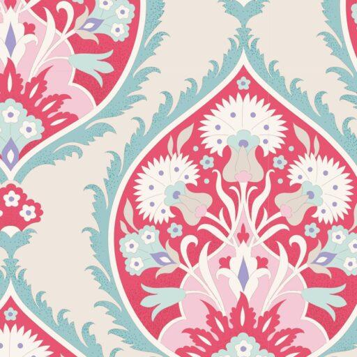 100253 Flowerleaf Red - Tilda Bon Voyage