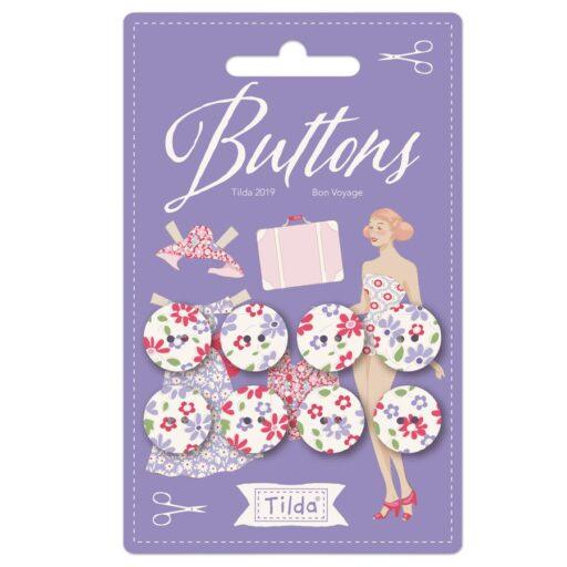 400035 Buttons 15mm - 8 Buttons- Tilda Bon Voyage
