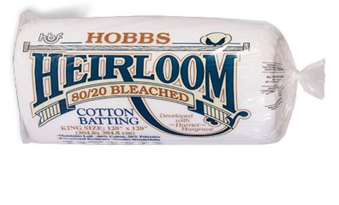 40.110.02.K Hobbs Heirloom®80/20 Bleached pr. stk.