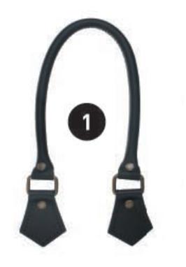 2072.1 Læder håndtag large sort 2 stk. pr. pakke