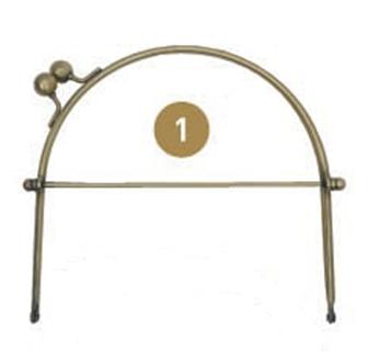 1800.1 Bøjle/hank til taske brass antique pr. stk.