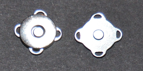 182.2 Magnet til lukning silver 10 stk. pr. pose